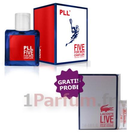 Parfum Five Live Chatler Du MenÉchantillon Lacoste Pll POXZuTki